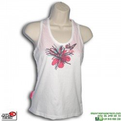Camiseta Tirantes Mujer John Smith MOYA Blanco sin mangas algodon