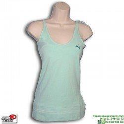 Camiseta Tirantes Mujer Puma YUCCA Verde sin mangas 804045-04 algodon
