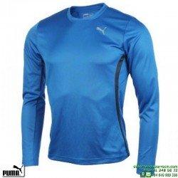 Camiseta PUMA RUNNING 509854-08 Manga Larga Hombre Azul Oscuro CORRER