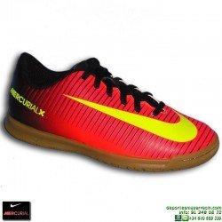 Nike MERCURIAL VORTEX 3 NIÑO CR7 Zapatilla Futbol Sala 831953-870 Rojo JUNIOR euro16 personalizable crisitiano ronaldo