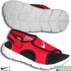 Sandalia Nike SUNRAY ADJUST 4 PS Niño Negro-Rojo 686518-602 chancla ajustable