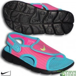 Sandalia Nike SUNRAY ADJUST 4 PS Niña Rosa-Azul 386520-612 chancla ajustable