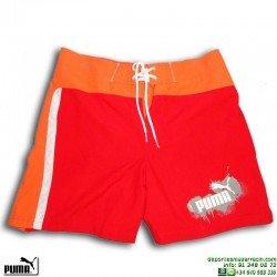 Bañador Bermuda PUMA BEACH SHORTS Rojo Hombre piscina 804295-02 playa
