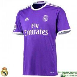 Camiseta REAL MADRID 2016-2017 MORADO 2ªEquipacion Adidas Oficial