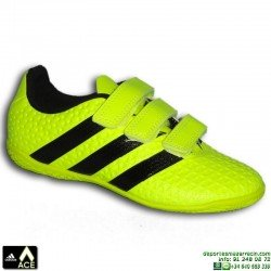 Adidas ACE niños VELCRO AMARILLA Zapatilla futbol sala 16.4 AQ6394 bota James Kroos Koke Rakitic JUNIOR