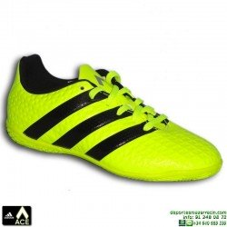 Adidas ACE niños AMARILLO FLUOR Zapatilla futbol sala 16.4 BA8608 bota James Kroos