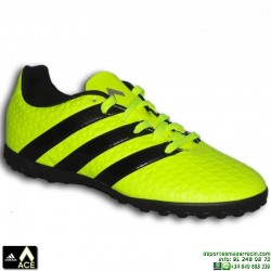 Adidas ACE 16.4 NIÑOS Amarilla Fluor Zapatilla Microtaco TURF 16.4 S31982 bota James Kroos