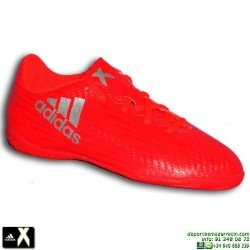Adidas X 16.4 NIÑO Rojo Zapatilla Futbol Sala S75693 Gareth Bale Luis Suarez