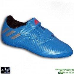 Adidas MESSI 16.4 Velcro NIÑOS AZUL Zapatilla Futbol Sala BB4029 JUNIOR SOCCER personalizar