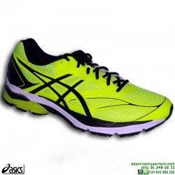 Asics GEL PULSE 8 Deportiva Running Hombre T6E1N-0790 Amarilla-Negro zapatilla correr