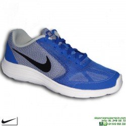 Zapatilla Deporte Junior NIKE REVOLUTION 3 GS 819413-402 Azul Royal niño