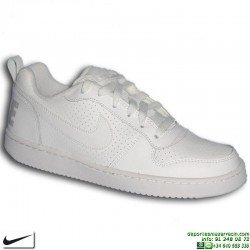 Sneakers Nike COURT BOROUGH LOW Chica AIR FORCE 1 Blanco 839981-100