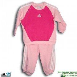 Chandal Bebe ADIDAS INF 3S JOGGER Algodón Rosa Fucsia 082762 Baby Niña