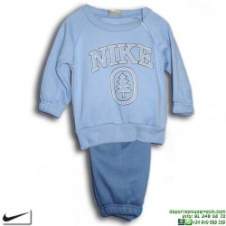 Chandal Bebe NIKE GIFT PACK WARM UP Algodón Azul 323895-498 Baby Niño