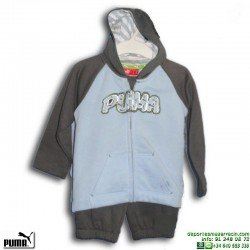 Chandal Bebe PUMA HOODED JOGGER Algodón Azul 807304-01 Baby Niño
