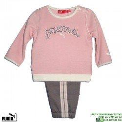 Chandal Bebe PUMA BABY CREW JOGGER Algodón Rosa 804977-01 Baby Niña
