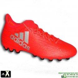 Adidas X 16.3 AG Roja Bota Futbol Tacos Hierba Artificial AQ3605 Gareth Bale Luis Suarez