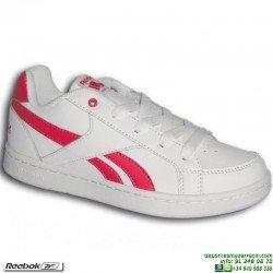 Zapatilla Clasica Chica REEBOK ROYAL PRIME Velcro Blanca-Rosa V69994 niña junior personalizar