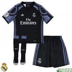 Conjunto REAL MADRID 2016-2017 Niño negro 3ªEquipacion Adidas Oficial AI5148 futbol