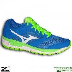 Zapatilla Running Mizuno SYNCRO MX Negro Azul-Fluor J1GE161902 atletismo pisada NEUTRA