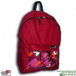 Mochila Escolar Rojo Burdeos Economica John Smith MRC403
