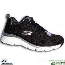 Deportiva Skechers Fashion Fit Statement Piece Mujer Negro-Blanco Memory Foam 12704/BKW -personalizable