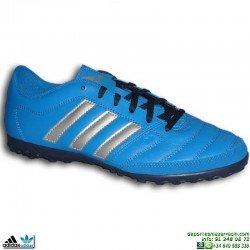 Adidas GLORO 16.2 TF Bota Futbol Multitaco Turf Azul Hombre S42175 clasica piel natural