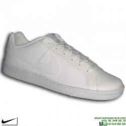 Zapatilla Clasica Nike COURT ROYALE piel Blanca Hombre 749747-111 Hombre sneakers