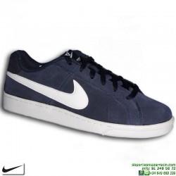 Zapatilla Clasica Nike COURT ROYALE SUEDE Piel Vuelta Azul Marino Hombre 819802-410 sneakers personalizable