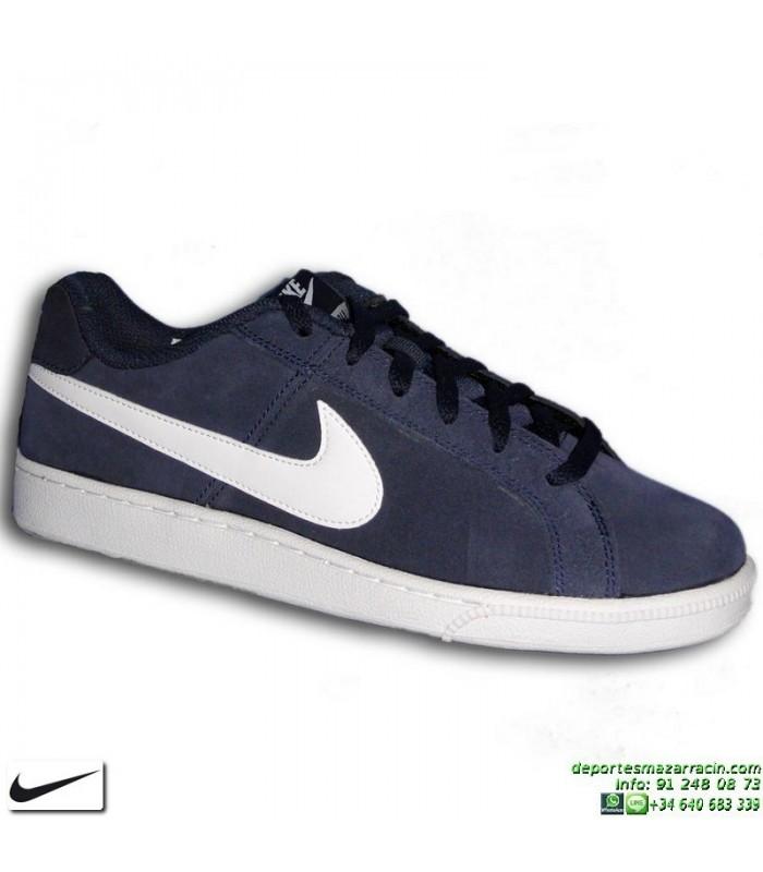 newest ab045 e116d Zapatilla Clasica Nike COURT ROYALE SUEDE Piel Vuelta Azul Marino Hombre  819802-410 sneakers personalizable