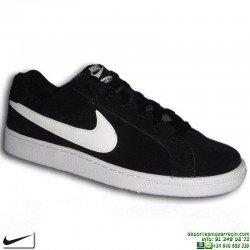 Zapatilla Clasica Nike COURT ROYALE SUEDE Piel Vuelta negro-blanco Hombre 819802-011 sneakers personalizable