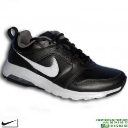 Zapatilla Nike AIR MAX MOTION LEATHER Piel Negra Deportivas Hombre sneakers 858651-001