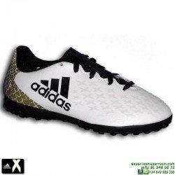 Adidas X 16.4 NIÑO blanco Zapatilla futbol Microtaco TURF AQ4364 bota Bale Luis Suarez morata