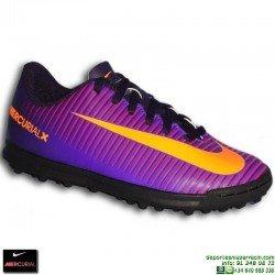 Nike MERCURIAL VORTEX 3 NIÑO Zapatilla Microtaco Turf 831954-585 Morado junior personalizable cr7