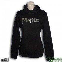 Sudadera Chica PUMA STYLE HOODY FL G Negro-Plata 838965-01 capucha mujer