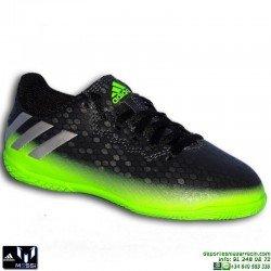 Adidas MESSI 16.4 NIÑOS Gris-verde Zapatilla Futbol Sala AQ3527 JUNIOR SOCCER personalizar indoor