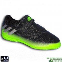 Adidas MESSI 16.4 NIÑOS Gris-Verde Velcro Zapatilla Futbol Sala