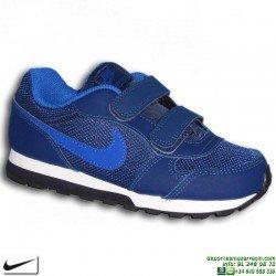 Zapatilla Niño Nike MD RUNNER 2 PSV Azul cierre Velcro Deportiva clasica 807317-405 sneakers