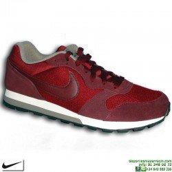 Zapatilla Nike MD RUNNER 2 Rojo burdeos Deportiva clasica hombre 749794-600 sneakers