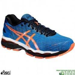 Zapatilla Running ASICS GEL NIMBUS 18 Azul Neutra T600N-3930 correr Atletismo suela Mixta PERSONALIZAR
