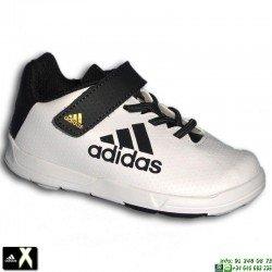 Adidas X INFANT VELCRO Blanco-Dorado Zapatilla Futbol Calle AQ4502 niño infantil junior baby personalizar