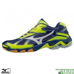 Zapatilla Voleibol Mizuno WAVE BOLT 5 Azul-Amarillo V1GA166002 personalizar