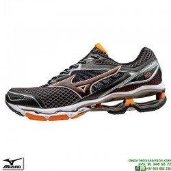 Zapatilla Running Mizuno WAVE CREATION 18 Negro J1GC160109 Hombre deportiva Correr personalizable