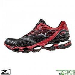 Zapatilla Running Mizuno WAVE PROPHECY 5 Negro-Rojo J1GC160003 Hombre personalizable