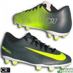 Nike MERCURIAL VORTEX 3 CR7 Niño Bota Futbol Tacos FG Gris Verdoso cristiano ronaldo 852494-376 junior