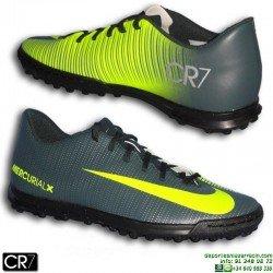 Nike MERCURIAL CR7 Zapatilla Turf Cristiano Ronaldo VORTEX 3 Gris Verdoso 852534-376 bota futbol hombre