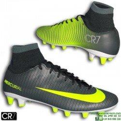 Nike MERCURIAL CR7 Tobillera DYNAMIC FIT Bota Futbol Cristiano Ronaldo Taco AGPRO VICTORY 6 Gris Verdoso 903602-373
