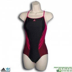 Bañador Natación Chica Adidas I INS 1PC G Negro-Fucsia M67960 infinitex