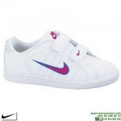 Zapatilla Clasica Niña Nike COURT TRADITION 2 PSV Velcro Blanca 354600-105