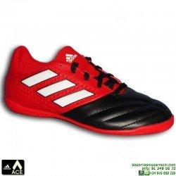 Adidas ACE 17.4 niños Rojo-negro Zapatilla futbol sala BA9246